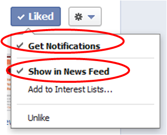 how to turn on notifications on facebook pages