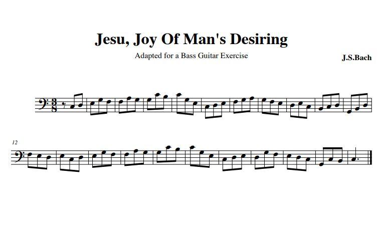 Jesu Joy of Man's Desiring Bass Score