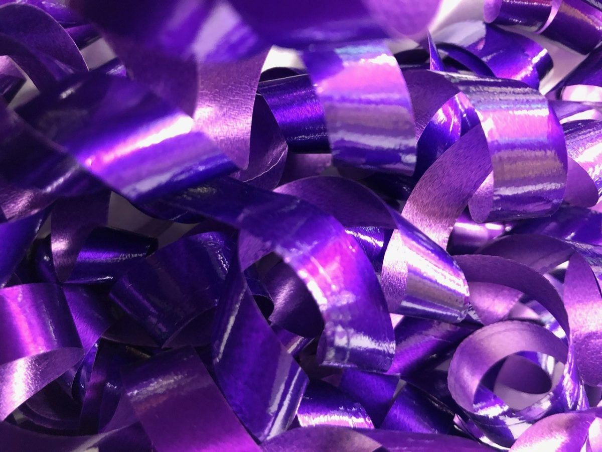 Advent purple ribbon reflection