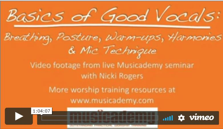 Vocal skills seminar for singers- breathing, posture and warm-ups