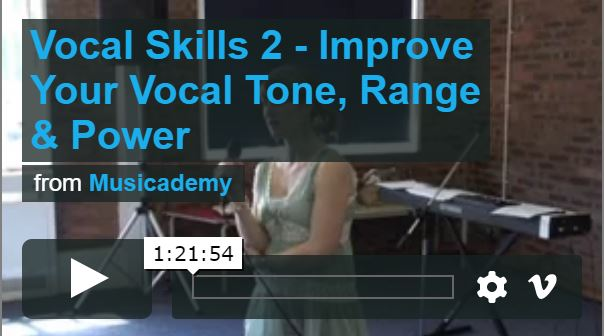 Free vocals seminar video clip – Improve your singing tone, range and power