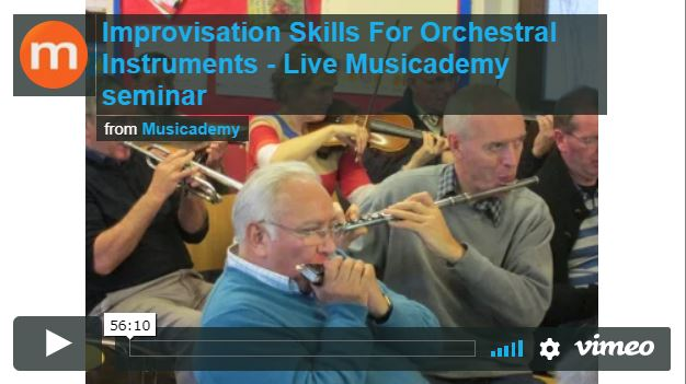 Free video on improvisation for orchestral instruments