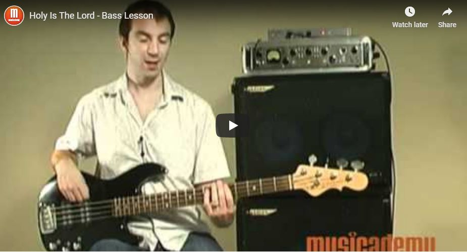Free worship bass lesson – Holy is The Lord