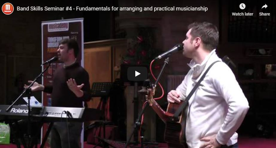 Musicademy Band Skills seminar – live footage.