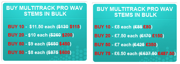 Bulk buy discounts launched for MultiTrack Pro Wavs and Super Chord Charts