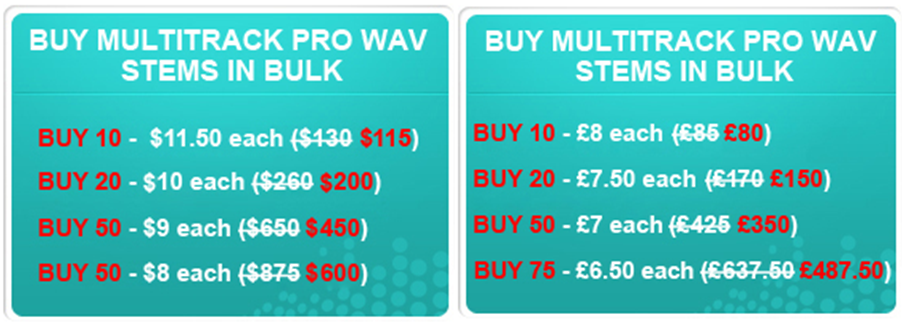 Bulk Buy Discounts Launched For Multitrack Pro Wavs And Super Chord
