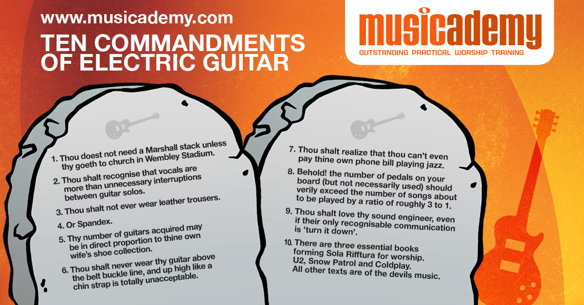 The 10 commandments of electric guitar