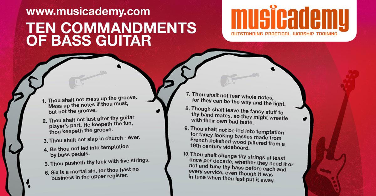 The 10 commandments of bass guitar