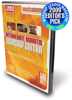 Best of the Best award for Musicademy's Intermediate Acoustic Worship Guitar DVDs