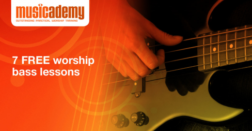 Learn to play bass guitar in church with these free video