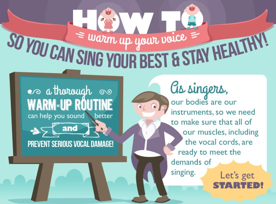 Infographic: How to warm up your voice to sing your best and stay healthy