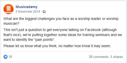 What are the biggest challenges you face as a worship leader or worship musician?