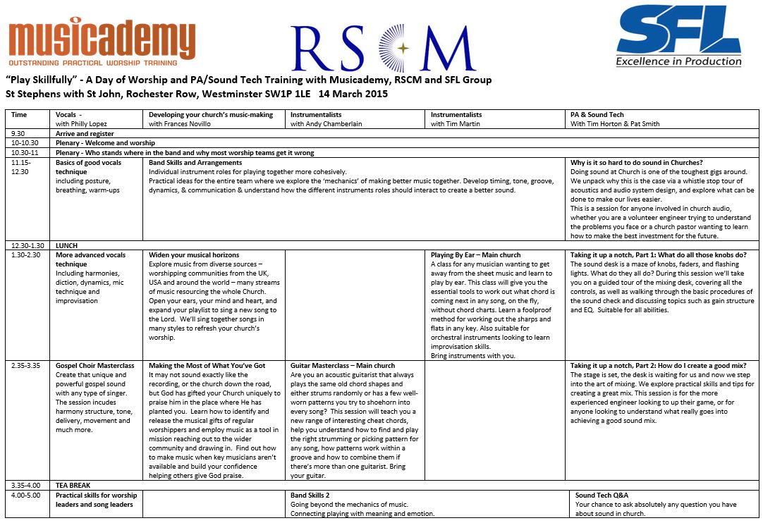 London RSCM Day v3