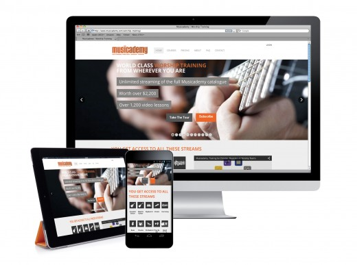 Worship Training Subscription site on multiple devices