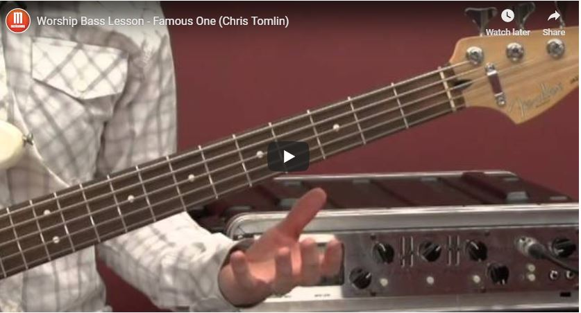 Free worship bass lesson: Famous One
