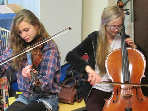 Orchestral Instrument Training in Church