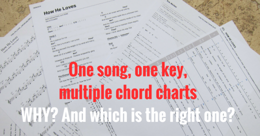 why do chord charts use different  chords