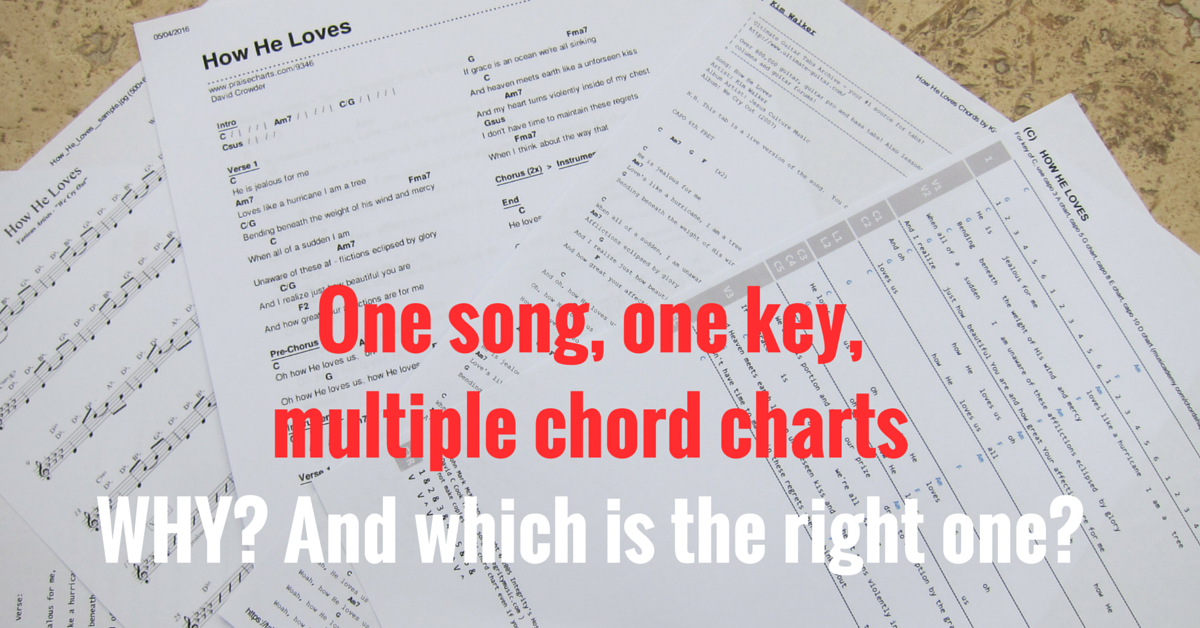 How can two chord charts be so different for the very same song?