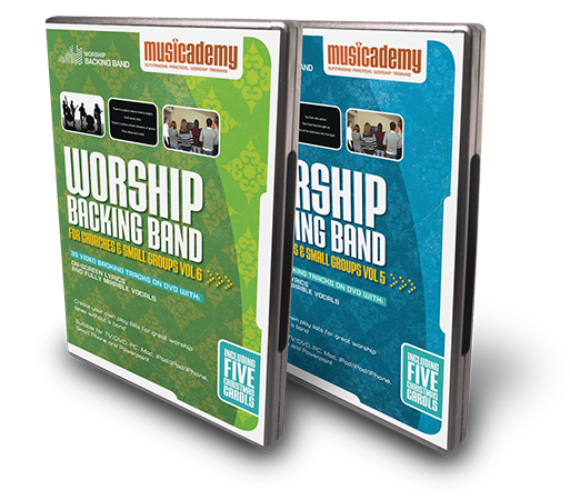Worship Backing Band DVDs for Christian backing tracks
