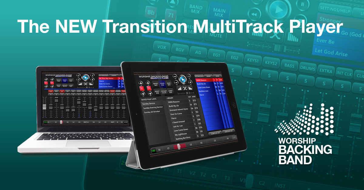 Announcing the new Worship Backing Band Transition MultiTrack Player