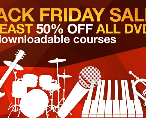Half Price Black Friday Sale: at least 50% off all DVDs and course downloads