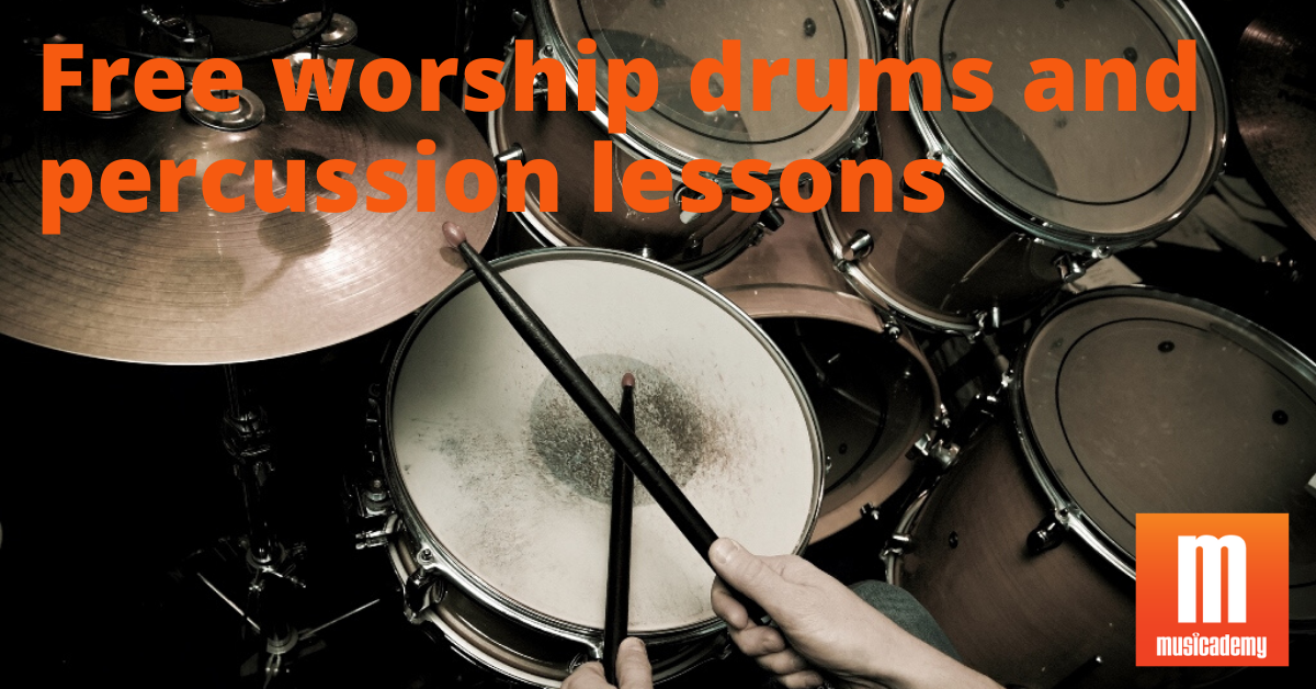 Free worship drums and percussion lessons