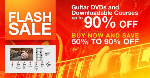 Flash Sale: Guitar DVDs and Downloadable Courses